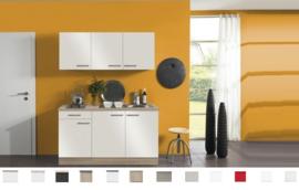 Kitchenette Zamora Wit hoogglans 150 cm incl. e-kookplaat HRG-9389