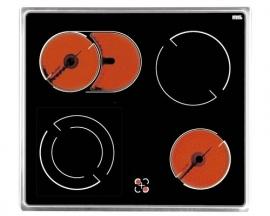 4-Pits Inbouw keramische kookplaat Amica EC 13.134 E met RVS frame HRG-289