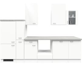 Keuken Excl. apparatuur. Eco wit 310 cm HRG-7364