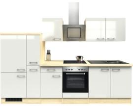 Keuken Abaco Nacre glanzend 300 cm Incl. Inbouwapparatuur HRG-31189