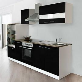 Keuken zwart hoogglans 270cm KB270WSC HUS-0998