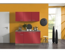 Kitchenette Rood 150 cm Incl. E-kookplaat HRG-4389