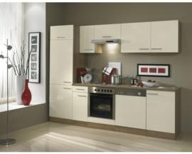 Keuken Bilbao 270 cm  créme Incl. Inbouwapparatuur OPTI-1549