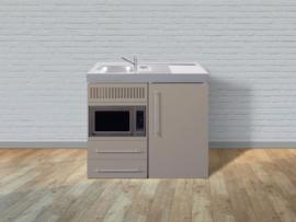 MPM 100 met koelkast en magnetron