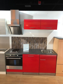 Showmodel keukenblok Roos glans 180cm