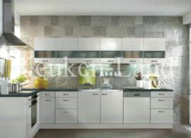 L-Keuken Lagos Wit Hoogglans 200 x 290 cm Incl. Inbouwapparatuur OPTI-1426