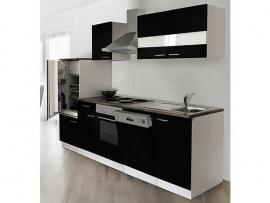 Keuken 280 cm incl oven, kookplaat, vaatwasser, afzuigkap, koelkast en spoelbak HUS-1169