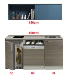 Kitchenette 160cm Vigo incl al inbouw apparatuur RAI-225