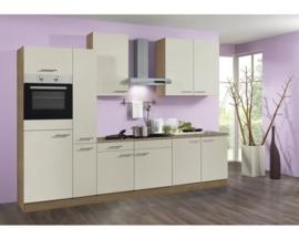 Keuken Bilbao 300 cm créme Incl. Inbouwapparatuur OPTI-21899