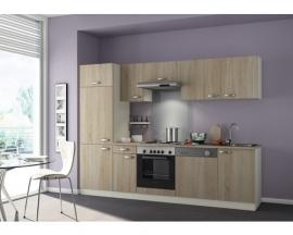 Keuken Padua 270cm licht eiken ruw gezaagd Incl. Inbouwapparatuur HRG-1349