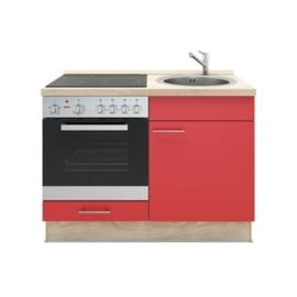 3-in-1 Keukenblok 120 x 60 cm  incl. oven + kookplaat + spoelbak  RAI-699