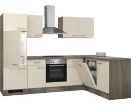 L-Keuken Tenesse eiken 280x170 cm incl. Inbouwapparatuur HRG-8888