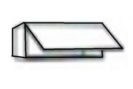 Wandkast inklap 60cm breed 35cm hoog WK606-9