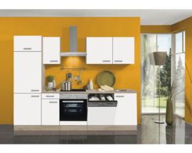 Rechte keuken wit mat  270 cm inclusief inbouwapparatuur RAI-164