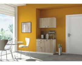 Keukenblok padua 100cm licht eiken incl. Inbouwapparatuur HRG-230