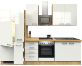 Keuken Pinto Hoogglans 300 cm Incl. Inbouwapparatuur HRG-21289