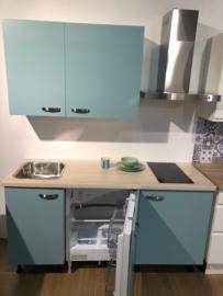 Showmodel Luxe groene kwaliteit keuken 165cm op stelpoten