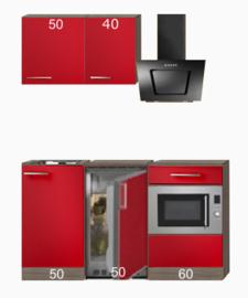 kitchenette 160cm incl koelkast en combimagnetron en afzuigkap RAI-8118