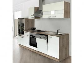 Keuken 280 cm incl oven, elektrische kookplaat, vaatwasser, hood, koelkast en spoelbak HUS-1168