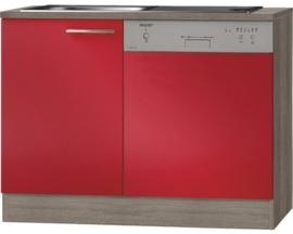 Keukenblok geschikt voor vaatwasser Imola Rood (BxHxD) 110,0x84,8x60,0 cm HRG-1165