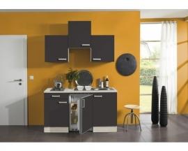 Kitchenette Faro Antraciet 150cm Incl. Inbouwapparatuur HRG-5399