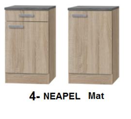 kitchenette 130cm met afzuigkap en koelkast RAI-3388
