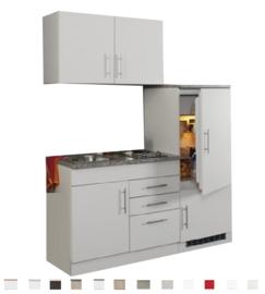 Kitchenette Toronto Wit 180cm incl. koelkast en e-kookplaat HRG-3599