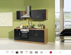 Keuken Atlanta Antraciet 210 cm Incl. oven,4-pit kookplaat HRG-9970
