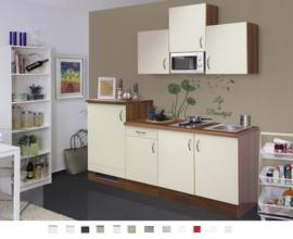Kitchenette Sienna 210 cm incl. Ingebouwde apparatuur crème RAI-564
