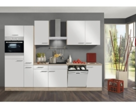 Keuken Dakar 300cm Wit Incl. Inbouwapparatuur HRG-21899