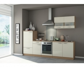 Keuken Bilbao 270 cm Semi-gloss creme Incl. Inbouwapparatuur  OPTI-1099