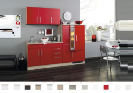 Keuken Imola Rood 210 cm lang Incl. Inbouwapparatuur + apothekerskast RAI-849