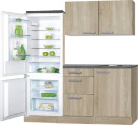 Keukenblok 150 x 60 cm incl.  spoelbak en wandkasten RAI-489
