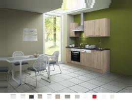 Keuken Lasse 210 cm licht eiken Incl. Inbouwapparatuur + vaatwasser HRG-1300