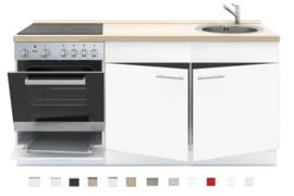 3-in-1 Keukenblok 180 x 60 cm incl. oven + kookplaat + spoelbak RAI-299