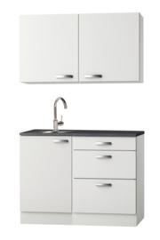 Keukenblok klassiek wit 100 cm Incl. Ingebouwde apparaten HRG-9299
