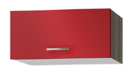 Wandkast met klapdeuren Imola signaal rood satijn (BxHxD) 60,0x34.5x34,6 cm OPTI-53