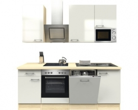 Keuken wit hoogglans 220 cm Incl. Inbouwapparatuur RAI-1189
