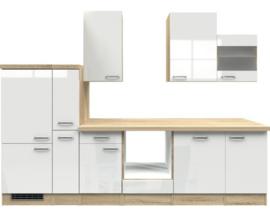Keuken Excl. apparatuur. Eco wit 310 cm HRG-7363