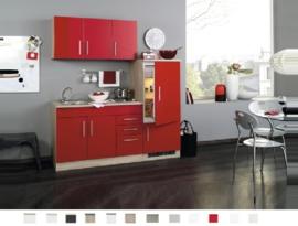 Kitchenette Toronto Rood 180 cm Incl. Inbouwapparatuur HRG-1699