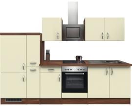 Keuken Sienna crème 300cm Incl. Inbouwapparatuur HRG-51189