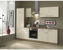 Keuken Bilbao 270 cm Semi-gloss creme Incl. Inbouwapparatuur OPTI-1250