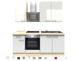 Keuken Wit Hoogglans Abaco 210 cm Incl. Inbouwapparatuur HRG-8839