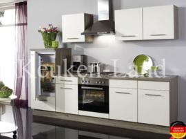 Keuken wit hoogglans Torger Incl.  Inbouwapparatuur 270cm lang RAI-7859