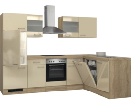 L-Keuken Kasjmier glans 280 x 170 cm incl. Inbouwapparatuur HRG-9037