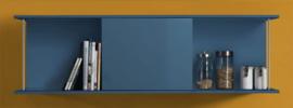 Wandkast met schuif rek Blauw150cm x 44cm RAI-4561