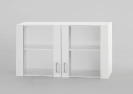 Bovenkast Wit met glas 100cm x 32 cm OPTI-36