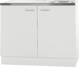 Keukenblok Klassiek 50 + RVS aanrecht 100cm x 50cm SPL100-6-OPTI-65