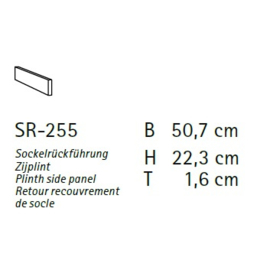 Komfort plint SR-255