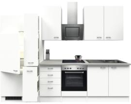 Keuken Wit Pinto 300cm incl. Inbouwapparatuur HRG-51249